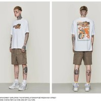 INFLATION Casual Loose Classic Japanese Cartoon T-Shirt / Kaos