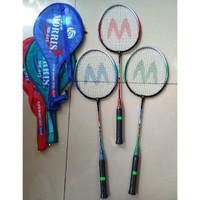 Raket Badminton Exercise Steel Shaft + Cover Moris (Khusus Grab/Grab)