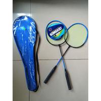 Raket Badminton Aluminium Carbon 2Pcs Cover King Becket (Gosent/Grab)