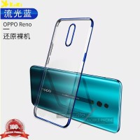 Case Oppo Reno KoRi Clear Plating List Chrome Soft Tpu
