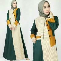 Baju Gamis Wanita Syari Maxi Abidah Dress Terbaru MURAH