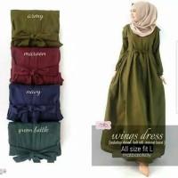 Baju Gamis Wanita Syari Maxi Balotelli Wings Dres Muslim Terbaru MURAH