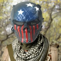 Field Equipment Mask Blue And Red Tactical Airsoft Mask Full Face