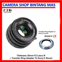 7Artisans 35mm F2 Leica M + Transfer Ring Adapter To Sony E Mount