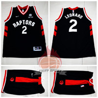 Jersey Basket NBA Stelan Raptors Hitam Kawhi Leonard