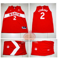 Jersey Basket Dan Celana Toronto Raptors Merah Kawhi Leonard