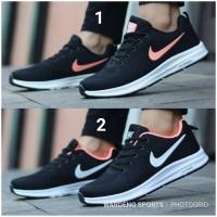 Sepatu Nike Free Zoom Running Sport Women Cewek Black Pink Peach Hitam