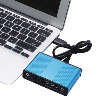 Sound Card External 5.1 Suround USB untuk Laptop/PC - CM6206