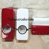 Dispenser Odol Manual dan Tempat Sikat Gigi / Dispenser Pasta Gigi
