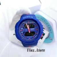 Jam Tangan Wanita Branded Casio Baby-G BGA240 Blue Pink Original Bm