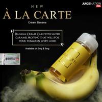 Liquid A La Carte Banana Cream 3Mg 6Mg 100ML Liquid Ala Carte Alacarte