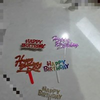 Topper hbd, happy birthday tusuk plastik