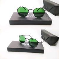 4dc3bef67 kacamata rayban round metal black classic green lens Best Seller