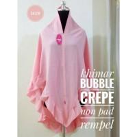 best seller INSTANT BUBBLEPOP KHIMAR CREPE JILBAB BUBBLE JILBAB