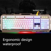 Gaming Keyboard Cool LED Leopard G700 - Hitam