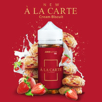 A LA CARTE - Strawberry Cream Biscuit - 100ml Liquid Vape Vapor Vaping