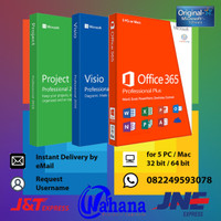 Microsoft Office 365 + Visio + Project (Request Username)