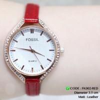 Jam tangan fossil wanita tali kulit leather grosir ecer murah guess dw