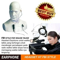 TERMURAH !! Headset handsfree earphone walkie talkie FBI Style