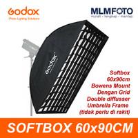 Godox SB-UBW6090 Softbox Umbrella Frame Grid 60x90cm Bowens Rectangle