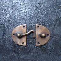 Kunci Pengait Kiri / Latch Kuningan - Oval Latch With Hook