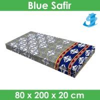 Rivest Sarung Kasur 80 x 200 x 20 - Blue Safir