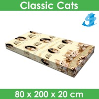 Rivest Sarung Kasur 80 x 200 x 20 - Classic Cats
