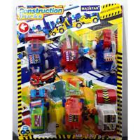 B8X Mainan Anak Mobil truck Construction set 6 pcs