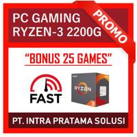 PC Gaming Ryzen-3 2200G (Siap Pakai + Bonus Games)