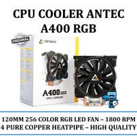 CPU Cooler Antec A400 RGB - 120mm 256COLOR RGB|4 Pure Copper Heatpipe