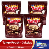 WAFER TANGO POUCH CHOCOLATE 115GR [ISI 4PCS]