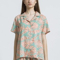 MAPPI Rayon Top in Monstera Print