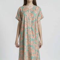 MALAKA Rayon Nightdress in Monstera Print