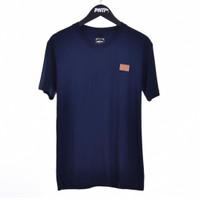 NVY LTHR PATCH / Men Short Tshirt Navy - Premium Nation Original