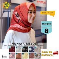 Jilbab Segiempat Nunaya Melody Motif 8 By Azzura Scarf Kerudung Murah