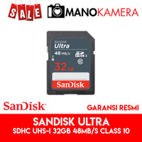 SD Card SanDisk Ultra SDHC UHS-I 32GB 48MBps Class 10