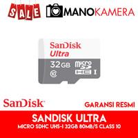 Micro SD MicroSD SanDisk Ultra microSDHC UHS-I 32GB 80MBps Class 10
