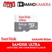 Micro SD MicroSD SanDisk Ultra microSDXC UHS-I 64GB 80MBps Class 10
