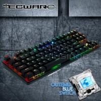 TECWARE PHANTOM 87 TKL Backlit Mechanical Keyboard Outemu Blue Switch