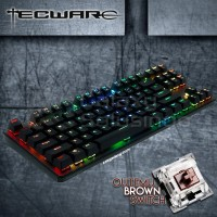 TECWARE PHANTOM 87 TKL Backlit Mechanical Keyboard Outemu Brown Switch