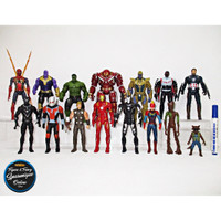 Action Figure Avengers End Game set isi 15 pcs