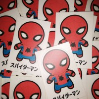 Stiker Superhero Spiderman Chibi Tom Holland Avengers Marvel Kartun