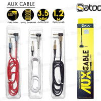 Satoo Kabel Jack 3.5mm Male to Male 1.2 meter / AUX Audio Cable 3.5mm