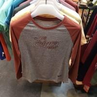 Kaos Cewek Eiger Honua Raglan Tees Women T-Shirt 91000 4532 Maroon Ori