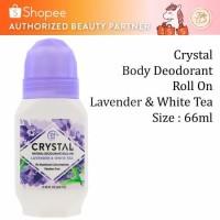 Crystal Deodorant Roll On 66ml LAVENDER WHITE TEA
