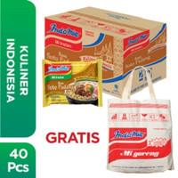 1 Dus isi 40 Pcs - Indomie Soto Padang + Free Tote Bag