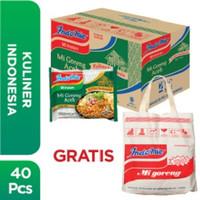 1 Dus isi 40 Pcs - Indomie Mi Goreng Aceh + Free Tote Bag