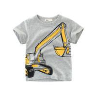 Kids Short Sleeve - Kids T Shirt - Kaos Oblong Pendek (GREY EXCAVATOR)
