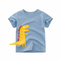 Kids Short Sleeve - Kids T Shirt - Kaos Oblong Pendek (YELLOW DINO)