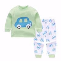 Kids Cotton Pajamas - Piyama Anak (BLUE CAR)